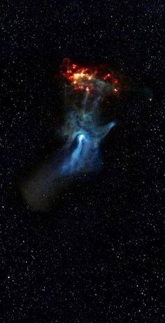 The 'Hand of God' Nebula.