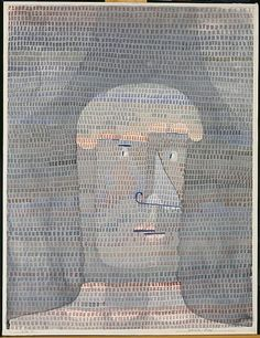 portrait-auto-portrait Paul Klee (German-Swiss, 1879-1940), Athlete's Head, 1932. Watercolour, gouache, and graphite on paper, 62.9 x 47.9 cm. The Metropolitan Museum of Art, New York.