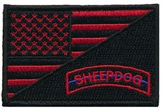 Patch Squad Men's USA Flag / Sheepdog Tab Military Patch / Morale Patch