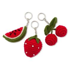 Numero 74 Crochet Fruit Keychain At this stage this product is sold as a lucky dip. You get what you get and you don't get upset ;) Should this keep you up at night, please holla at us for a specific colour preference and we'll see what we can do.