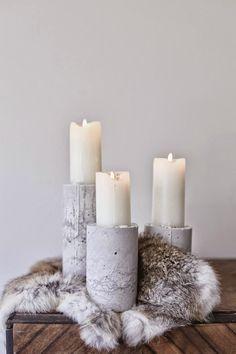 Diy concrete candle holder home подсвечники, свечки, дизайн Concrete Candle Holders, Diy Candle Holders, Diy Candles, Romantic Candles, Scented Candles, Rideaux Design, Boho Deco, Trendy Home, Christmas Centerpieces