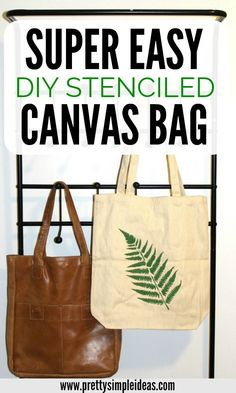The Easiest Diy Stenciled Canvas Bag I Don't Know About You, But I Love Diy Christmas Gifts For Friends, Family, And Kids. Everybody Will Love This Creative Stenciled Bag To Use To Carry Their Groceries, Or Just As A Diy Christmas Gift Bag Homemade Gifts For Mom, Gifts For Your Mom, Diy Gifts, Crafts To Make And Sell, How To Make Diy, Easy Diy Crafts, Fun Crafts, Diy Christmas Gifts For Friends, Christmas Gift Bags