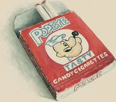 Candy cigaretts - tasted like chalk, but you thought you were cool 'smoking' them.  There were also bubble gum ones wrapped in paper that gave a puff of fake smoke.