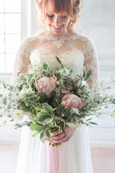 Bouquet with Protea | photography by http://kir2ben.com