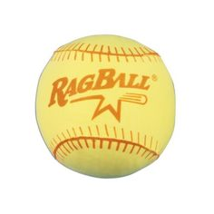 """Sportime Ragball Softball with Polyester Cover - 11 Inch - Yellow by Sportime. $2.99. RagBalls deliver much of the action of real balls, but are much softer and safer, thanks to their textile inner core and spun yarn winding. The fabric-covered balls can even be washed and dried. RagBalls are the official safety balls of the Amateur Softball Association (ASA). Use indoors or out. Ragball with yellow Polyester cover. 11"""" (27.9cm). (Multiple sizes and colors shown)."""