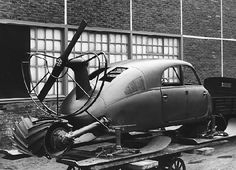 Tatra V855 (1942) -  This aerodynamic vehicle was powered by modified T-87 engine; only 2 vehicles were built and they never went into production. Note the drum roller in the back, used when climbing uphill. It also drove the vehicle in city traffic and functioned as a brake.