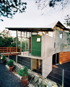 This is the family home of El Salvador Architect Jose Roberto Paredes  in the rain forest outside San Salvador