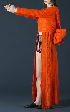 Long Mohair Cardigan by TAK.ORI for Preorder on Moda Operandi