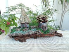 """""""Neighbors on the Cliff"""" Fairy House Landscape"""