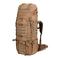 Mardingtop 65+10L/65 Liter Internal Frame Backpack Tactical Military Molle Rucksack for Hunting Shooting Camping Hiking Traveling with Rain Cover