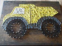 Unique String Art Design For Little Boys Room  https://www.etsy.com/listing/453333550/truck-string-art-dump-truck-string-art?ref=shop_home_feat_3