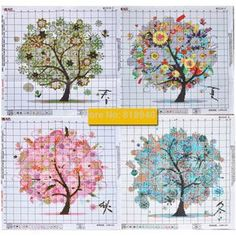 Trees-Nature-Four-Seasons-Counted-Cross-Stitch-Kits-Spring-Summer-Fall-Winter.jpg (1000×1000)