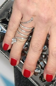 Red nails and Diamonds