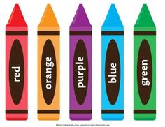 These free printable crayons are perfect for classroom decor and color matching activities! Click through to download for free. English Activities For Kids, Special Education Activities, Toddler Learning Activities, Educational Activities, Preschool Activities, Kids Education, Preschool Colors, Preschool Letters, Free Preschool