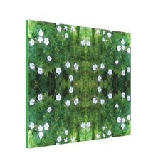 White Flower Fractal Summer 2016 Canvas Larger Gallery Wrapped Canvas