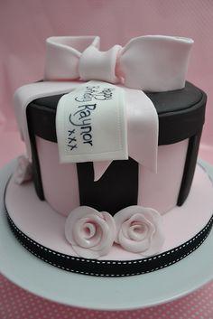 Chocolate Hat Box cake by Cutie Cupcakes (aka Heather), via Flickr