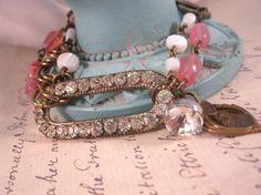 Vintage Assemblage Bracelet Art Deco Bracelet by ForevermoreJewels