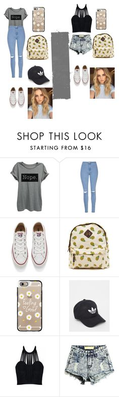 """""""Untitled #213"""" by timcaaa on Polyvore featuring Glamorous, Converse, Casetify, adidas and Posh Girl"""