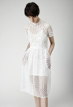 ::to make with little crochet squares_Simone Rocha Bit Dot Dress:: Mode Style, Style Me, Mode Crochet, Inspiration Mode, Dress Me Up, Dot Dress, Dress Lace, Eyelet Dress, Mesh Dress