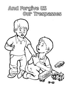 Free Lord S Prayer Coloring Pages For Children And Parents