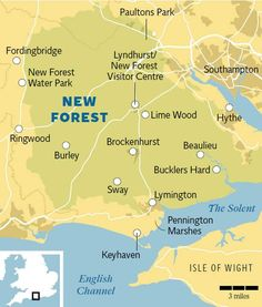 New Forest guide: boutique hotels, fine dining and abundant natural England Map, Hampshire England, New Forest England, Study Abroad London, Isle Of Wight England, Forest Map, Travel Maps, Travel And Leisure, British Isles