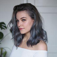 maria nila color refresh azure blue - Hair World Teal Hair, Pastel Hair, Blue Grey Hair, Brown Hair Dyed Blue, Blue Lob, Blue Steel Hair, Denim Blue Hair, Ombre Brown, Grey Ombre