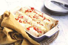 Vegetarische enchiladas Pureed Food Recipes, Veggie Recipes, Mexican Food Recipes, Vegetarian Recipes, Ethnic Recipes, Vegetable Snacks, Good Food, Yummy Food, Wrap Recipes