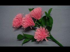 How to make easy flowers - carnation paper flower - YouTube