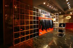 PLAC Jeans flaship store by URBANTAINER, Seoul #denim #fit #display