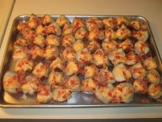 Potato skins. Make a bunch & freeze them.. Shows you how.. Have an easy appetizer on hand!