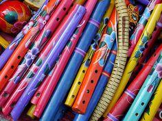 Flautas de madera / artesania / Temalacatzingo, Guerrero. México