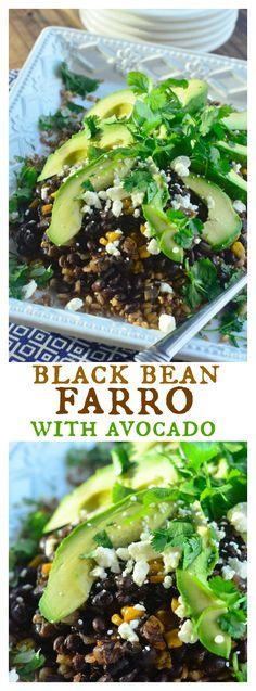 Black Bean Farro with Avocado