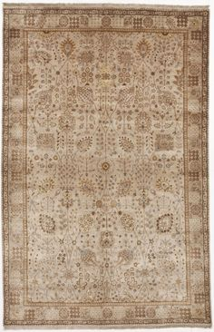 Offered is this lovely hand-knotted Indian rug. This is an antique revival with gorgeous earth tones. Hand Knotted Rugs, Woven Rug, Hallway Carpet Runners, Rug Texture, Fabric Rug, Indian Rugs, Home Rugs, Traditional Rugs, Grey Rugs