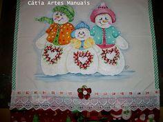 Catia Artes Manuais: PASSO A PASSO PINTURA BONECOS DE NEVE