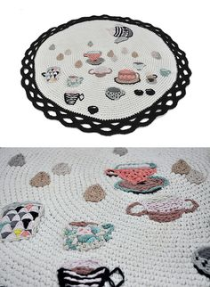 Hand embroidered carpet by Miga de Pan