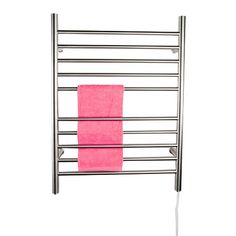 When you don't want to install a hardwired towel warmer, the plug-in variety is a great option, like the Radiant Plug-in Straight Towel Warmer.