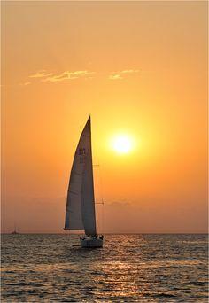 sailing away into paradise