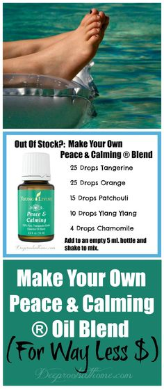 Make Your Own Peace & Calming ® Essential Oil Blend For Way Less