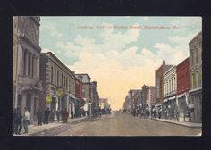WARRENSBURG MISSOURI DOWNTOWN HOLDEN STREET at West Pine Street looking North 1910ca