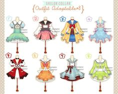 [CLOSED] Sailor Collar Outfit Adoptable#8 by Black-Quose.deviantart.com on @DeviantArt