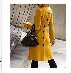 Op voorraad 2013 herfst winter nieuwe design dames sexy wollen jas mode plus size casual wollen jas