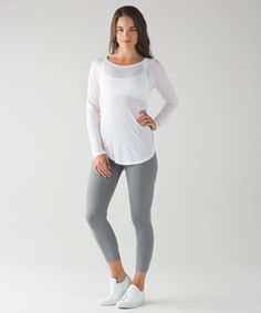 We designed this lightweight  long sleeve to keep you  covered when you're heading to  and from your practice.