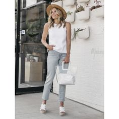Wedge versatility… find 'em at [Shoe: Robbyn] // Nordstrom Shoes, White Jeans, Wedge, Espadrilles, Normcore, Footwear, Sporty, Pants, Style