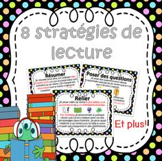 This file includes 8 French Reading Strategies posters. The posters included Summarizing / Asking questions / Poser des Making Connections / Predicting / Visualizing / Determining Importance / Dterminer French Teaching Resources, Teaching Activities, Teaching Reading, Learning, Reading Strategies Posters, Reading Resources, Teaching French Immersion, Grade 1 Reading, French Flashcards