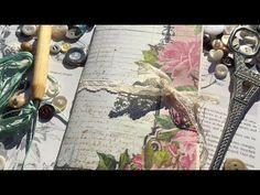 Corset Pocket for Junk Journals / DIY Embellishments Travel Journal Pages, Art Journal Pages, Art Journaling, Journal Ideas, Fabric Journals, Journal Paper, Scrapbooking Layouts, Scrapbook Paper, Paper Art