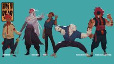Kung Fu is Dead (character concepts), Malcolm W on ArtStation at https://www.artstation.com/artwork/k6ewy