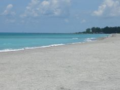 Venice Beach in Sarasota County, Florida:  Venice Beach is wide and long like Siesta to the north, but with one obvious difference…shells. The fine sand to the north is largely free of any shells, while Venice Beach can be a treasure trove for shellers (you can sift the sand and find the teeth of fossilized sharks).
