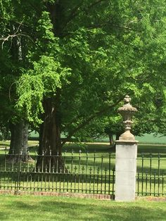 Lovely Garden Fence With Decorative Finials At The Westover Plantation