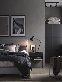 The Cozy Bedroom (IKEA Sweden – Life at Home) – Bedroom Inspirations Bedroom Setup, Ikea Bedroom, Gray Bedroom, Bedroom Colors, Home Decor Bedroom, Bedroom Furniture, Bedroom Ideas, Bedroom Inspiration, Master Bedroom