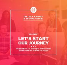 The only journey is the one within.Let's start our Journey.Registrations are wide open & we invite U to join era at http://www.3rdbracket.com .